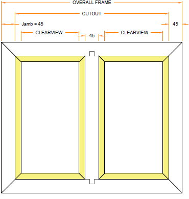 30 minute rated double pane fire window diagram